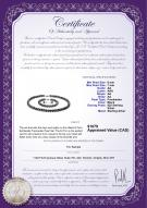 product certificate: B-AA-67-S