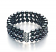 6-7mm AA Quality Freshwater Cultured Pearl Bracelet in Triple Strand Black