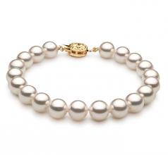 7.5-8mm Hanadama - AAAA Quality Japanese Akoya Cultured Pearl Bracelet in Hanadama 8-inch White
