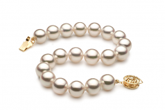 8.5-9mm Hanadama - AAAA Quality Japanese Akoya Cultured Pearl Bracelet in Hanadama 7-inch White
