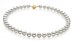8.5-9mm Hanadama - AAAA Quality Japanese Akoya Cultured Pearl Necklace in Hanadama 23-inch White