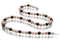 6-7mm AA Quality Freshwater Cultured Pearl Necklace in Multicolor