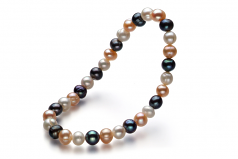 6-7mm A Quality Freshwater Cultured Pearl Bracelet in Bliss Multicolor