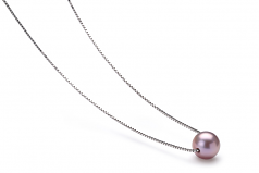8-9mm AA Quality Freshwater Cultured Pearl Pendant in Madison Lavender