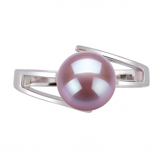 7-8mm AAA Quality Freshwater Cultured Pearl Ring in Jenna Lavender
