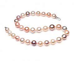 3-14mm AA+ Quality Freshwater Cultured Pearl Necklace in Ella Edison Multicolor