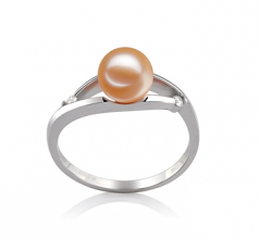 6-7mm AAAA Quality Freshwater Cultured Pearl Ring in Tanya Pink