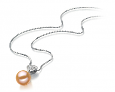 7-8mm AAAA Quality Freshwater Cultured Pearl Pendant in Randy Pink