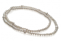 6-11mm A Quality Freshwater Cultured Pearl Necklace in Chloe White