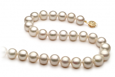 10-11mm AA Quality Freshwater Cultured Pearl Necklace in White