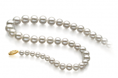 5-10mm AAA Quality Freshwater Cultured Pearl Necklace in White