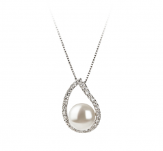 9-10mm AA Quality Freshwater Cultured Pearl Set in Isabella White