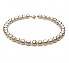 10.5-11.5mm AAA Quality Freshwater Cultured Pearl Necklace in White