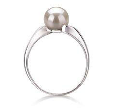 6-7mm AAA Quality Freshwater Cultured Pearl Ring in Dana White