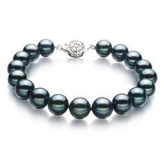 8.5-9mm AA Quality Japanese Akoya Cultured Pearl Bracelet in Black