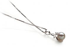 6-7mm AA Quality Japanese Akoya Cultured Pearl Pendant in Ariana White