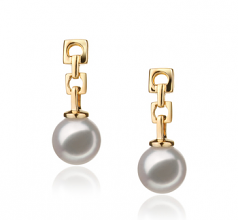 6-7mm Hanadama - AAAA Quality Japanese Akoya Cultured Pearl Earring Pair in Hanadama Anya White
