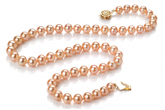 6-7mm AAA Quality Freshwater Cultured Pearl Necklace in Pink