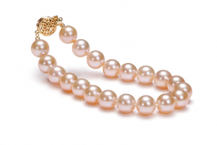 8.5-9mm AAAA Quality Freshwater Cultured Pearl Bracelet in Pink