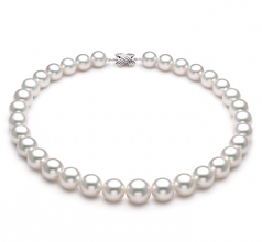 12-15mm AAA+ Quality South Sea Cultured Pearl Necklace in White