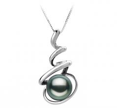 8-9mm AAA Quality Tahitian Cultured Pearl Pendant in Eldova Black