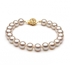 7-8mm AAA Quality Freshwater Cultured Pearl Bracelet in White
