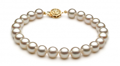 7.5-8mm AAA Quality Japanese Akoya Cultured Pearl Set in White
