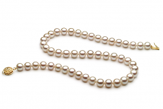7-8mm AAA Quality Freshwater Cultured Pearl Necklace in White