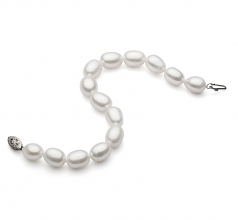 8.5-9.5mm AA Quality Freshwater Cultured Pearl Bracelet in Drop White