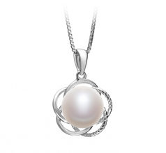 9-10mm AA Quality Freshwater Cultured Pearl Pendant in Bobbie White