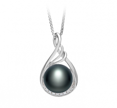 10-11mm AAA Quality Freshwater Cultured Pearl Pendant in Lori Black