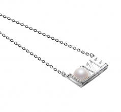 6-7mm AAAA Quality Freshwater Cultured Pearl Necklace in LOVE White