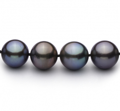 11.1-12.9mm AAA Quality Tahitian Cultured Pearl Necklace in Multicolor