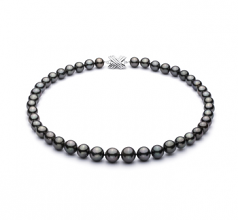 9.5-11mm AAA Quality Tahitian Cultured Pearl Necklace in Black