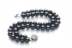 6-7mm AA Quality Freshwater Cultured Pearl Bracelet in Henrike Black