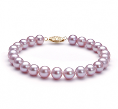 7-8mm AA Quality Freshwater Cultured Pearl Bracelet in Lavender