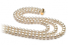 6-7mm AA Quality Freshwater Cultured Pearl Necklace in Dianna White