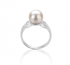8-9mm AAAA Quality Freshwater Cultured Pearl Ring in Eunice White