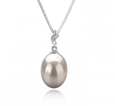 9-10mm AAA Quality Freshwater Cultured Pearl Pendant in Lindsay White