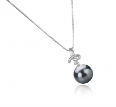 10-11mm AAA Quality Tahitian Cultured Pearl Pendant in Maude Black
