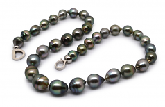 8-11mm Baroque Quality Tahitian Cultured Pearl Necklace in 17-inch Multicolor