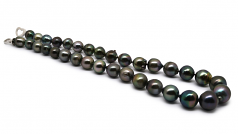 10-14mm Baroque Quality Tahitian Cultured Pearl Necklace in 17.5-inch Multicolor