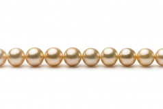 10-13.3mm AAA Quality South Sea Cultured Pearl Necklace in 18-inch Gold