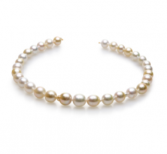 10-13mm Baroque Quality South Sea Cultured Pearl Necklace in 18-inch Multicolor
