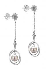 6-7mm AA Quality Japanese Akoya Cultured Pearl Earring Pair in Paula White