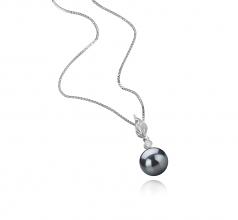 8-9mm AAAA Quality Freshwater Cultured Pearl Pendant in Miriah Black