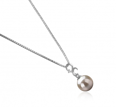 8-9mm AA Quality Japanese Akoya Cultured Pearl Pendant in Kacey White