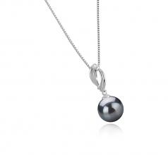 9-10mm AAA Quality Tahitian Cultured Pearl Pendant in Shamara Black