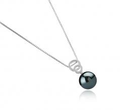 12-13mm AAA Quality Tahitian Cultured Pearl Pendant in Marlo Black