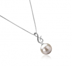 9-10mm AAAA Quality Freshwater Cultured Pearl Pendant in Valena White
